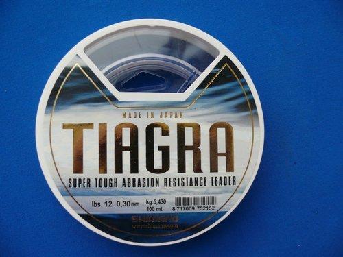 Shimano Tiagra Leader Schlagschnur 12lb 0,30mm 100m Meeresvorfach -