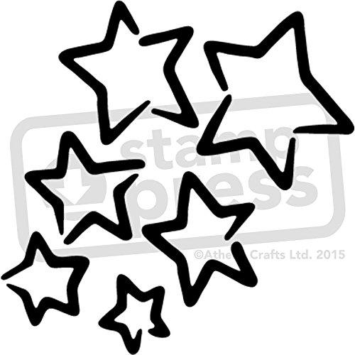A5 'Sterne' Wandschablone / Vorlage (WS00028176) (Sternen-vorlage)