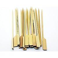 Palillos para brocheta, apto para asar carne y presentación de alimentos, de 14cm x 3mm, 250piezas