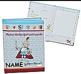 Unbekannt Meine Kindergarten Freunde Buch - Ritter Rettich für Jungen - mit Name - dick gebunden für Kindergartenfreunde Poesie A5 Hardcover - Freundebuch Poesiealbum Kinder