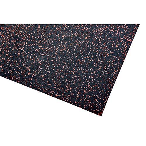acerto 40414 Unterlegmatte für Fitnessgeräte * Unterlage 250x125cm (4mm) * rot * Robuster Fußbodenschutz * rutschfest & Schalldämmend - Boden-Schutzmatte Fitness-Raum Bodenbelag - Sportgeräte