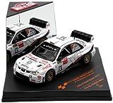Geschwindigkeit–Sunstar–43135–Fahrzeug Miniatur–Subaru Impreza WRC07–Rallye Großbritannien 2010–Maßstab 1/43