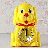 Upstudio Despertador Lovely Cartoon Animal Silent Alarm Clock con Night Light para niños Kids Students (Amarillo)