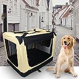 Neuest Auralum® 2 Jahre Garantie 91.4x63.5x63.5cm Hundebox Transportbox Reisebox mit seitlichem Einstieg