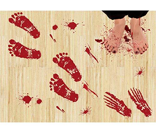 Zombie Asyl - Wolmund 36 Stück Blutige Fußabdrücke und