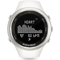 NORTH EDGE femme Digital montre de sport multifonctions extérieur étanche Course Chronomètre Alarme Lady Blanc smart Watch