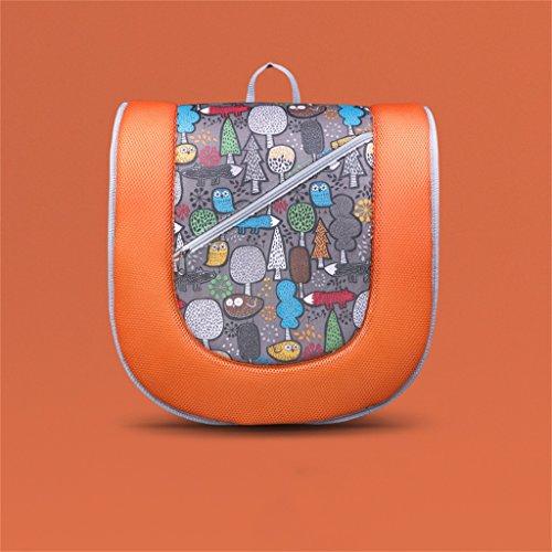 Wickeltisch DELLT@ Baby Portable Baby Falten Strap Bett Portable Seide Baumwolle Herzen Baby Bett Erlöschen Reisetasche Drei Farbe Optional (Farbe : Orange)