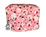 'Cozycoverup For Kenwood Patissier Food Mixer Cover Pink Cupcakes Cotton, Handmade In The Uk And Fully Lined