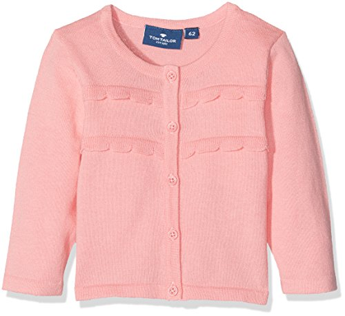 TOM TAILOR Kids Baby-Mädchen Strickjacke Light Cardigan, Rosa (Lollipop Rose 5484), 74 (Cardigan Cashmere Rüschen)