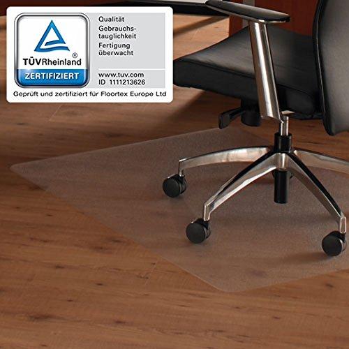 Floortex 619510 Bodenschutzmatte ULTIMAT II 120 x 150 cm Transparent Hartboden 100{37c8a8b2da5f0bd423afad6e4f356ec51abf2dd0238fc1c765b1f5e07d2a44a2} Polycarbonat TÜV Zertifiziert