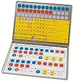 Betzold 42637 - Rechen-Magnetbox 1, 2, 3 - Zahlenzauberei mit 30 Arbeitsblättern - Rechnen Lernen Mathematik Grundschule magnetische Zahlen Wendeplättchen Zahlenraum bis 20