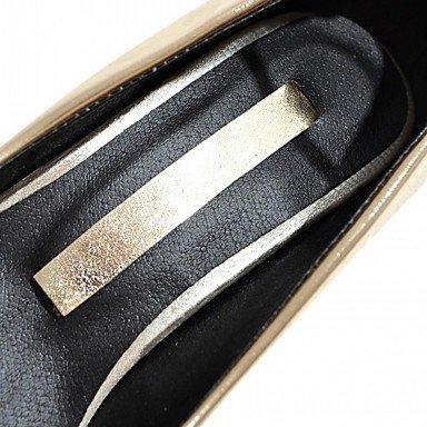 Talloni delle donne Primavera Estate Autunno Inverno Dress Comfort novità PU similpelle nozze ufficio & carriera Party & Sera casuale tacco grosso Gold