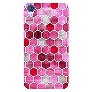 EYP Red Hexagons Pattern Back Cover Case for HTC Desire 820
