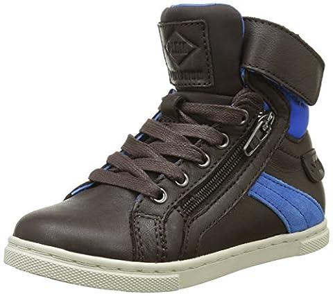PLDM by Palladium Veleda Nca, Sneakers Hautes Mixte Enfant, Marron (F71 Dk Brown/ Dk Blue), 25 EU