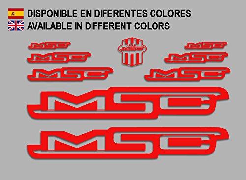 Ecoshirt 5M-WF3B-K45C MSC Bike F136 Stickers Autocollants Autocollants Rouge