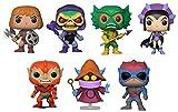 FunkoPOP Masters Of The Universe: Battle armor He-Man + Battle armor Skeletor + Merman + Evil-Lyn + Beast Man + Orko + Stratos – Cartoon Vinyl 7 Figure Bundle Set NEW