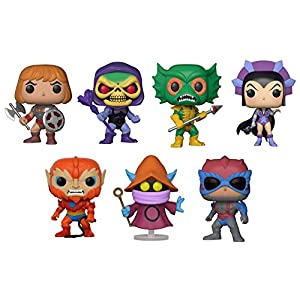 FunkoPOP Masters Of The Universe Battle armor He Man Battle armor Skeletor Merman Evil Lyn Beast Man Orko Stratos Cartoon Vinyl 7 Figure Bundle Set NEW