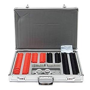 WGng 104/266-teiliges Optisches Linsen-Set für Augenmessung, Optometrie-Testobjektiv, Metallverkleidung, Aluminium-Gehäuse, 266 Stück, 1 Zylinder