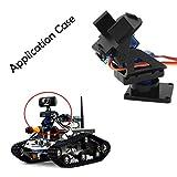 Für Arduino Kits Zubehör 2-Achsen FPV Kamerahalterung Kopf mit 9g Dual Servo/Lenkgetriebe für Roboter/R / C Auto - Schwarz + Blau