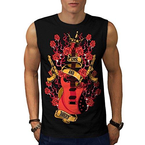 roses-and-guns-rock-band-music-men-new-black-l-sleeveless-t-shirt-wellcoda