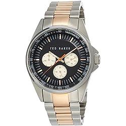 Ted Baker Herren-Armbanduhr Armband Metall Quarz Zifferblatt Schwarz Analog TE3051