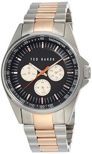 Ted Baker Homme Bracelet Métal Quartz Cadran Noir Analogique Montre TE3051