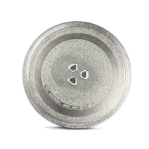 Neerjharini Microwave Oven Replacement Turntable Rotating Glass Plate/Tray with 3-Part Bushing Coupler (Diameter 9.6-Inch/245-mm)