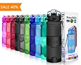 HoneyHolly Sport Trinkflasche - 400/500/700/1000ml - BPA frei wasserflasche auslaufsicher für Gym, Laufen, Yoga, Camping, Outdoor, Männer, Frauen, Kinder - Tritan Trinkflaschen Kunststoff mit Filter