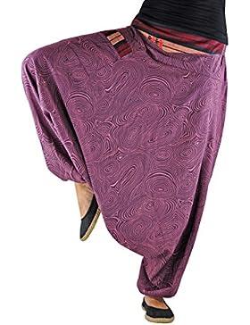 Pantalones bombachos virblatt hombre y mujer con estampados y tejidos tradicionales talla única S - L ropa hippie...