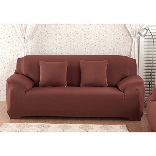 Nibesser Couchhusse Sofabezug Couchbezug Verfügbar in Verschiedenen Größen (4 Sitzer/235-300cm, Kaffeebraun 2)