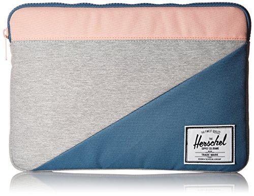 Herschel Anchor Sleeve for Macbook Light Grey Crosshatch/Aegean Blue/Peach