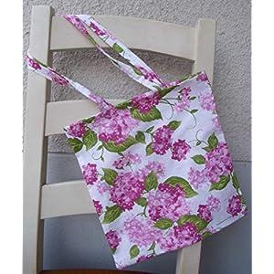 Einkaufsbeutel groß Tragetasche Beutel Tragetasche Einkaufstasche Hortensie Hortensien