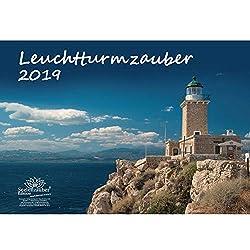 Leuchtturmzauber · DIN A3 · Premium Kalender 2019 · Leuchtturm · Nordsee · Ostsee · Meer · Hafen · Schiff · Wellen · Edition Seelenzauber