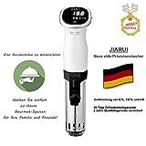 JIARUI Sous Vide, Präzisionskocher/Immersion Zirkulator mit Digitaltimer und exakter Temperaturreglung, Ultra Leise, 850W, Weiß, Geschenkidee - 9