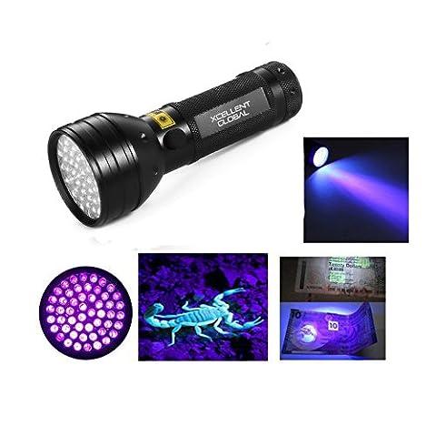 Xcellent Global 51 LED 395 nm UV Ultraviolet Blacklight Flashlight Torch - Spot Scorpions, Pet Urine, Counterfeit Money, Bed Bugs, Minerals, Leaks PT008
