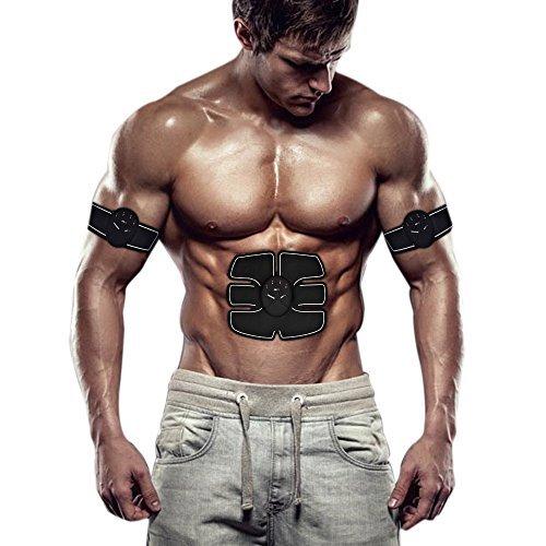 Abdominal Muscle Toner - Elektronische Abs Muskel Trainer Abs Gürtel - Stimulator für Bauch / Arm / (Muskel-toner Elektronische)