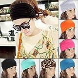 JUNGEN Headband Bandeau Cheveux Turban Hair Bands Cheveux Elastic Noué Bande Elastique Cheveux Accessoire pour Femmes de Yoga Fitness (gris)