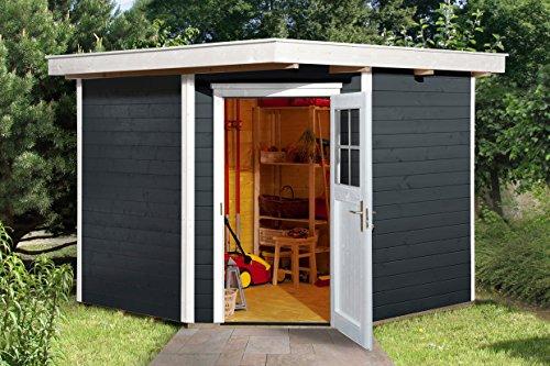 weka Gartenhaus 229 Gr.2, anthrazit, 21 mm