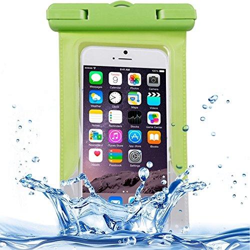 WARM home Geschenk Geben Für iPhone 6/5 / 5S / 5C transparente Wasserdichte Tasche Schutzhülle mit Lanyard Dekoration (Farbe : Grün)
