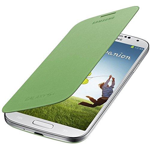 Samsung Original EF-FI950BGEGWW Flip Cover (kompatibel mit Galaxy S4) in gelb-grün (Samsung S4 Leder-cover)