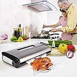 [Aktualisiert] Vakuumierer, Crenova VS100S - Vakuumiergerät für Nahrungsmittel, manuelle Pausenfunktion für brüchige Lebensmittel, +10 gratis Profi-Folienbeutel - 7