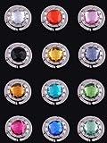 12 pz Variopinto gancio appendi-borsa a diamante a sezione pieghevole.(12 Colori) immagine