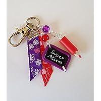 cadeau atsem bijou de sac super atsem crayon et ardoise ecole violet et rouge cadeau merci atsem rouge