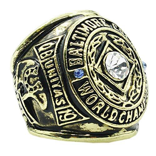 J-Z Baltimore Colts Championship Rings aus 1958 Jahren aus Titanstahl für Herren, Gold, 12