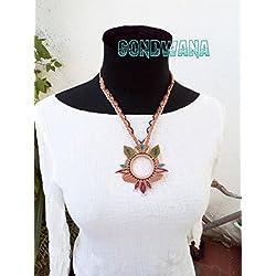 Collar de Macramé Gondwana artesano
