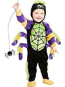 amscan Spider Costume-Age Months-1 Pc Disfraz de araña de Little Crawly-Edad 18-24 meses-1 pieza, multicolor (PDBSP18)