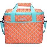 MIER 18L grande fresco de las mujeres del bolso del bolso del almuerzo con aislamiento de picnic, playa, camping, pesca, de Trabajo, de color naranja