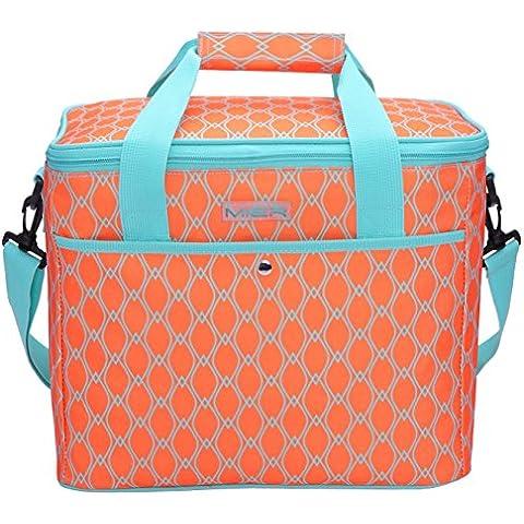 MIER 18L grande fresco de las mujeres del bolso del bolso del almuerzo con aislamiento de picnic, playa, camping, pesca, de Trabajo, de color