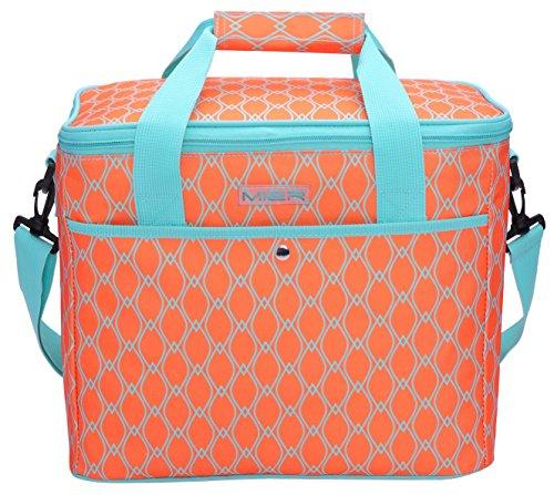 Mier 18l grande freddo borsa donne pranzo al sacco isolato per picnic, spiaggia, il campeggio, pesca, lavorare, colore arancione