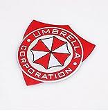 B105 Umbrella Corporation auto aufkleber 3D Emblem Badge rot Schriftzug car Sticker Tuning